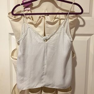 Ivy & Main Tops - White polka dot tank